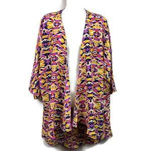 NWT LuLaRoe Lindsay kimono Cardigan Large geometri